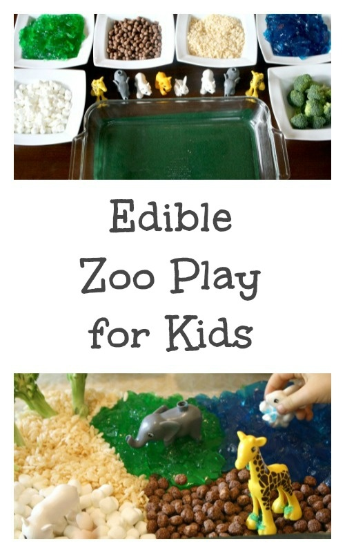 Edible Zoo Small World Play for Kids