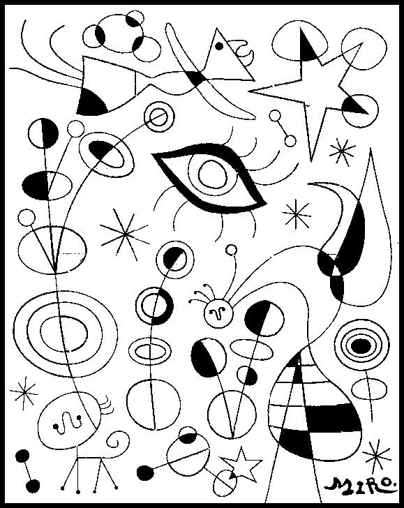 Joan Miro coloriage                                                       …