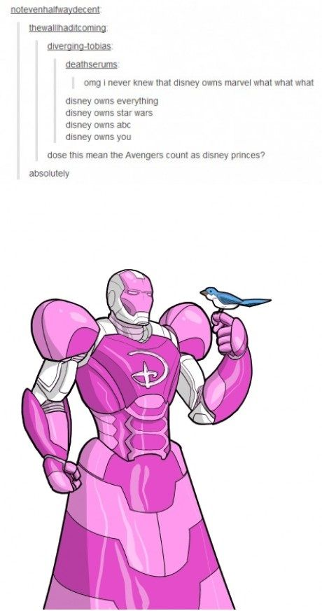 OMG someone show Tony or RDJ (or whatever they're the same person anyways) this picture. XD. I actually can't. Tony Stark, Disney princess. I will call him that from now on.