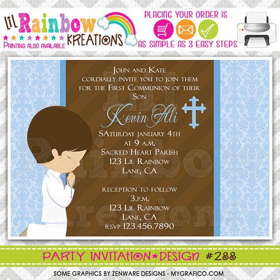 Best 25 First communion invitations ideas – Communion Party Invitations