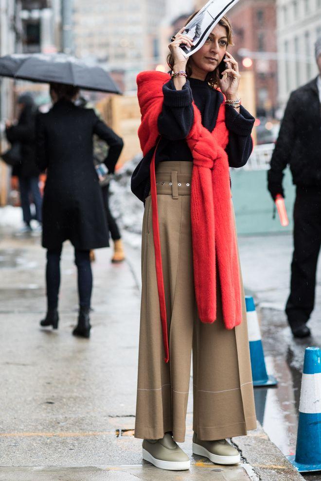 Street Style La Fashion Week Automne Hiver 2017 2018 De New York Kl Der Och Inspiration