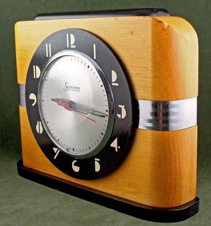 SCREAMING ART DECO MACHINE AGE MODERNIST 1930S SESSIONS ELECTRIC CLOCK via eBay