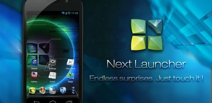 Next Launcher 3D v1.16.1  Designed by GO Dev Team, 'Next Launcher 3D' shows how a 3-D and dynamic launcher could be possibly like -- Extend imagination, extend capabilities.