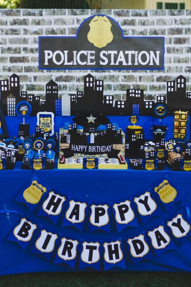 Fantastic police birthday party! See more party ideas at CatchMyParty.com!