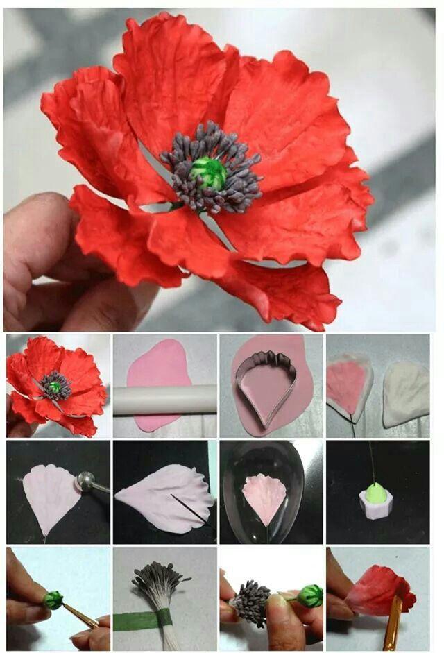 Red poppy tutorial