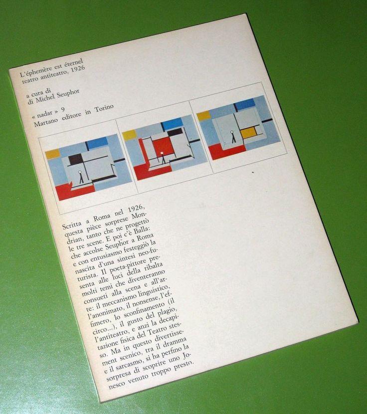 "PIET MONDRIAN-L'EPHEMERE EST ETERNEL-Michel SEUPHOR-""NADAR"" N.9-1°ED.1972 BALLA"