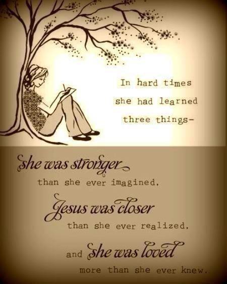 :) Stronger, closer, loved