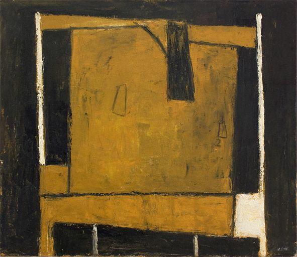 William Scott, Still Life: Coffee Pot I, 1952, Oil on canvas, 67.2 × 81 cm / 26½ × 32 in, Southampton City Art Gallery
