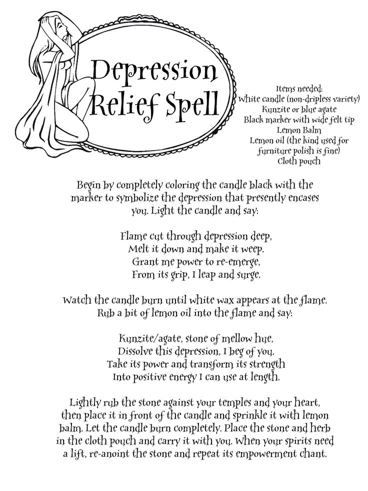 "Depression Relief Spell - ""Magick is desire made real"" - Pinned by The Mystic's Emporium on Etsy"