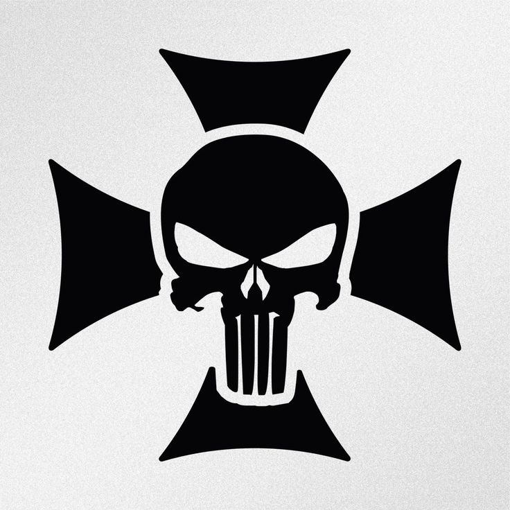 Punisher Skull Maltese Cross Car Body Window Bumper Vinyl Decal Sticker #Oracal