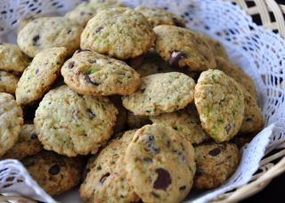 These are realllllllllly yummy cookies. Dont tell anyone there is zucchini in them... theyll NEVER know! Cook time is the amount of time it takes to cook each batch of cookies!