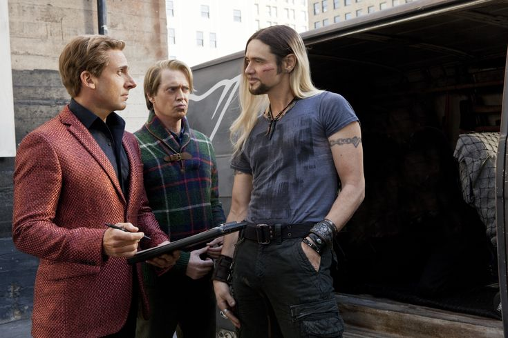 Steve Carell, Steve Buscemi, and, Jim Carrey as Burt Wonderstone, Anton Marvelton, and Steve Gray in The Incredible Burt Wonderstone.