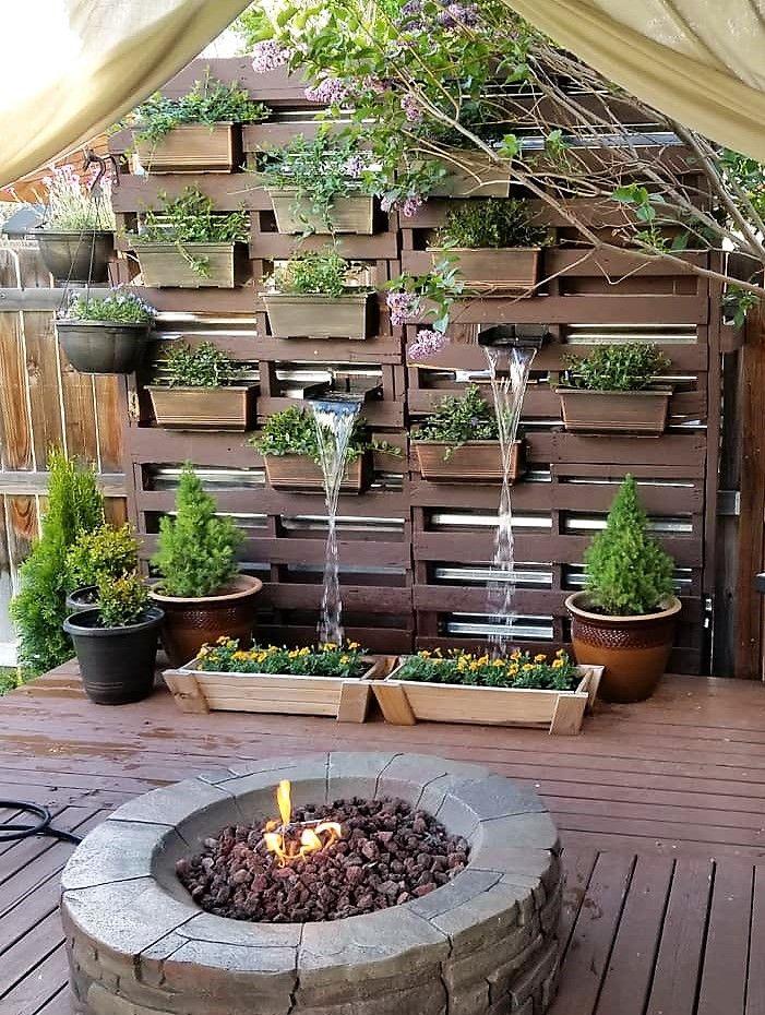 pallet garden decor wall planter | Water features | Pallet ...