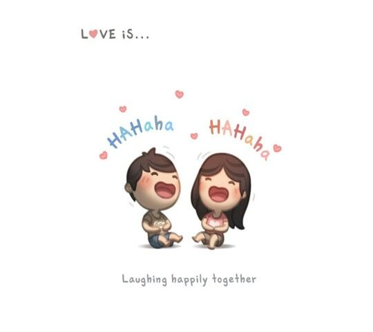 Love is..... laughing happily together