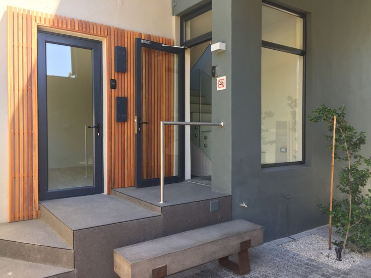 Courtyard to micro hotel. The Parkhouse. Cape Town