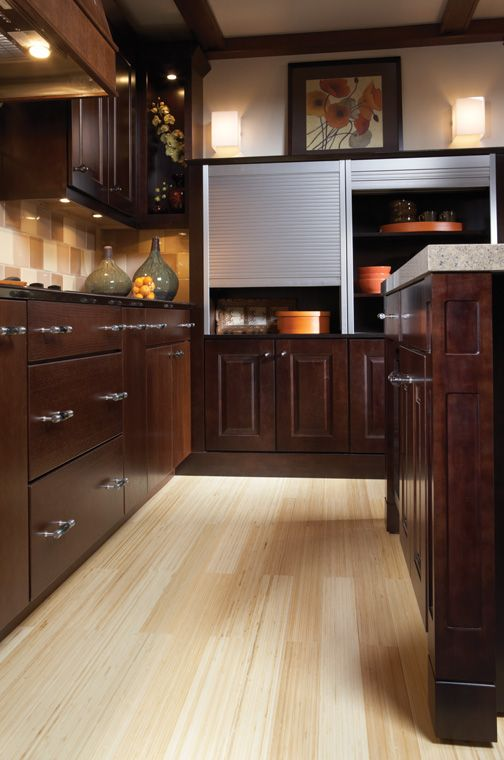 Fresh Tahoe Maple Espresso Cabinets
