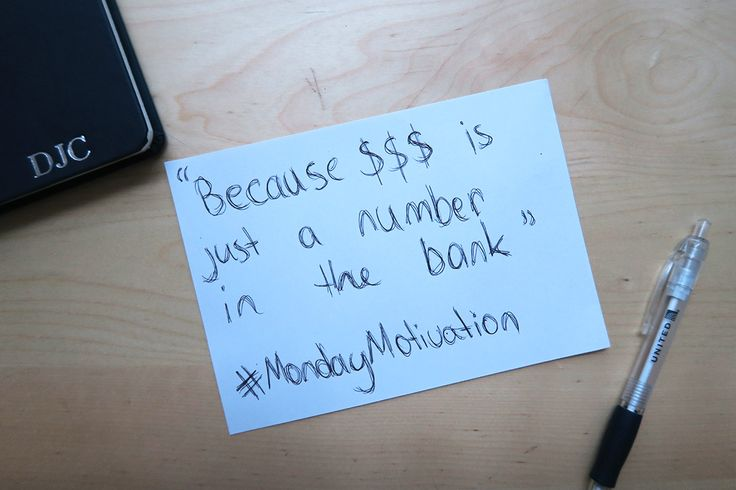Because $$$ is just a number in the bank