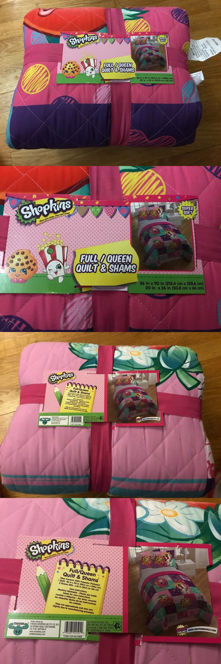 Quilts 66730: Shopkins Full Queen Quilt And Sham, 100% Polyester, Super Soft, New With Tags -> BUY IT NOW ONLY: $49.99 on eBay!
