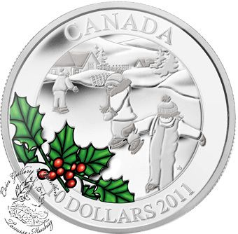 Coin Gallery London Store - Canada: 2011 $10 Little Skaters Silver Coin, $64.95
