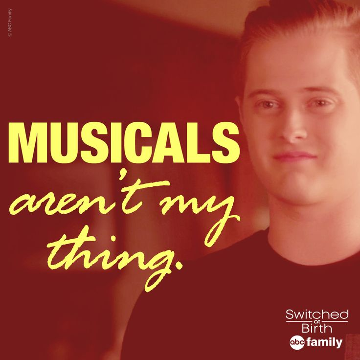 """""""Musicals aren't my thing."""" 