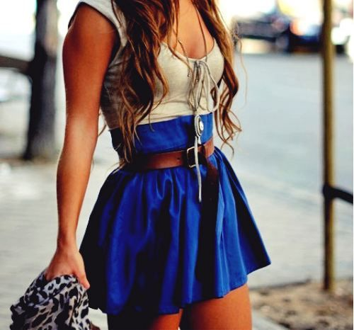 <3High Waisted Skirt, High Waist Skirts, Fashion, Summer Outfit, Style, Clothing, Dresses, Cute Outfit, Belts
