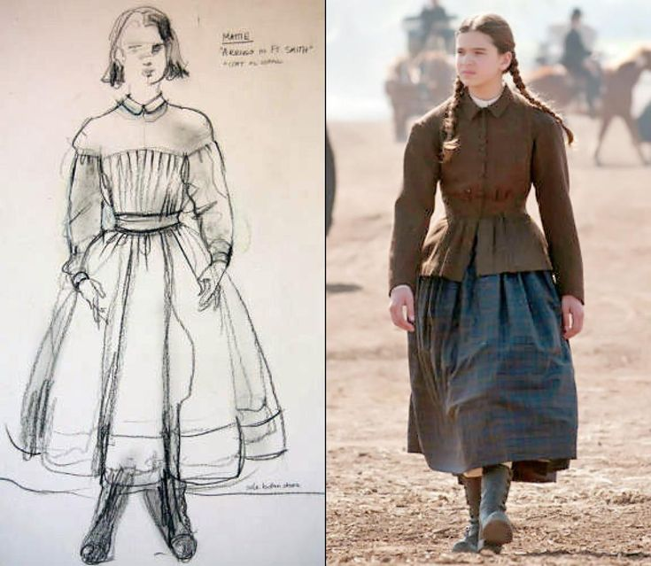 Though women generally wore more colorful palettes during the era, Zophres dressed Mattie Ross (Hailee Steinfeld) in darker tones that appeared somber. What will help tell this story is we want to emphasize that it's wintertime and it's freezing and these people are about to embark on a journey on horseback,' Zophres told the LA Times.