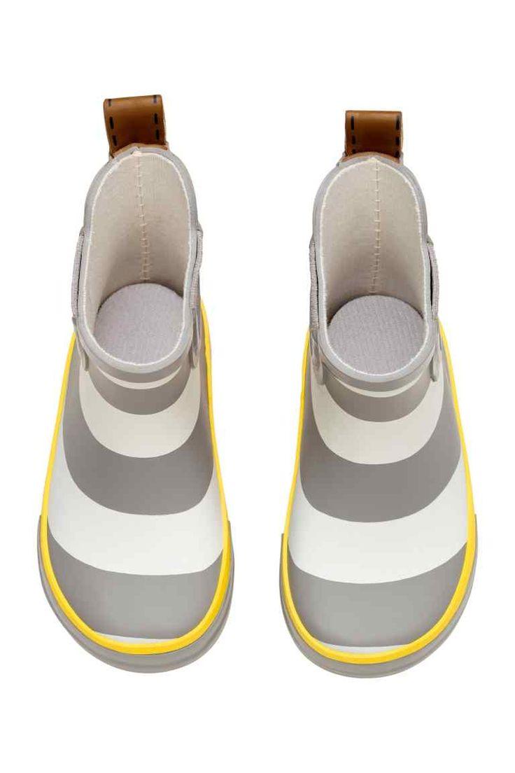 Vzorované gumené čižmy - sivá/pruhovaná - DETI | H&M SK 1