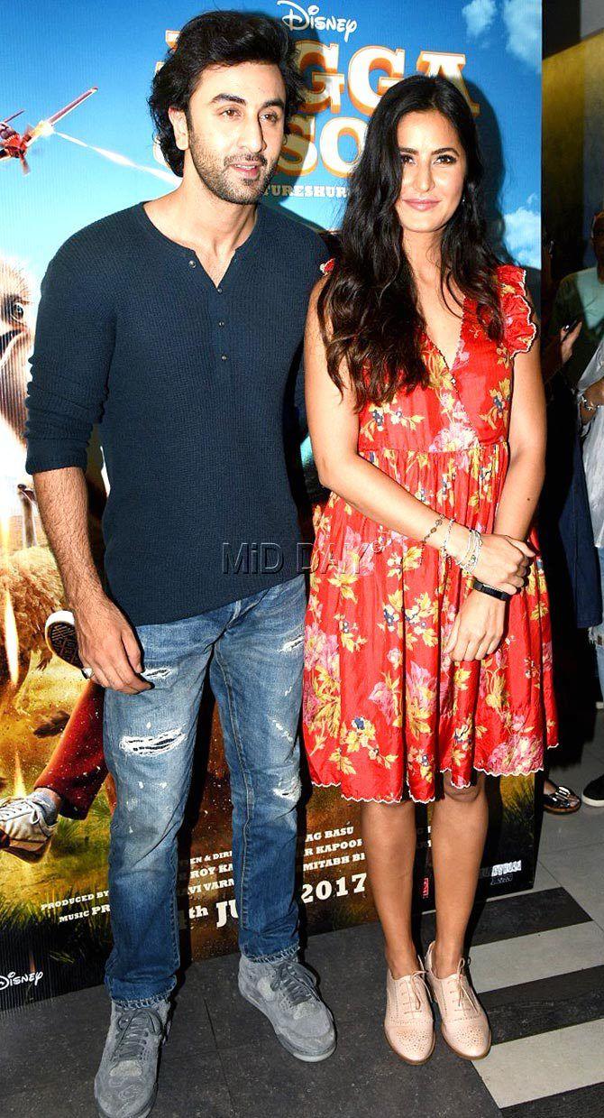 Photos: Ranbir Kapoor and Katrina Kaif promote 'Jagga Jasoos' - Entertainment  #bollywoodactress #bollywooddivastyle #bollywoodmovies  #bollywoodbeauties #casuals #stunners #bollywoodkidda #jaggajasoos #moviepromotions #bollywoodactors