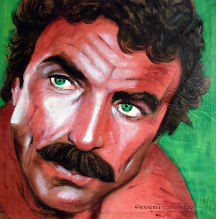 Tom Selleck Magnum 30x30 by markoconnellstudio, via Flickr