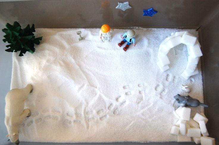 bac sensoriel d'hiver - add fun and mix
