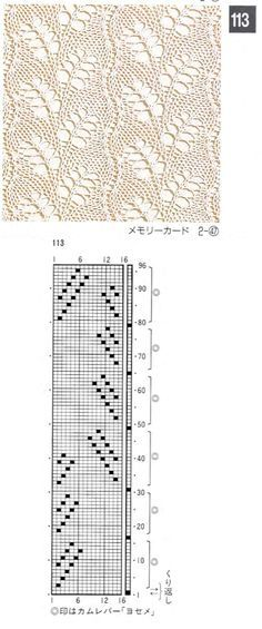 knitting lace stitches diagrams - Αναζήτηση Google