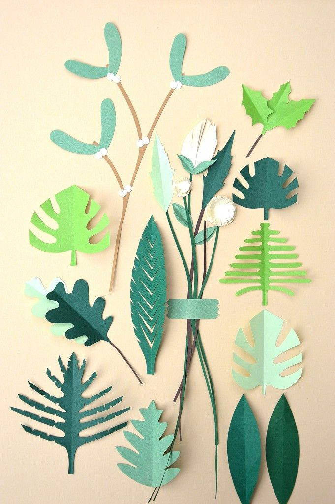Paper-cut botanical: the first of Botanical inspired illustrations I made. It is a kind of vintage poster with various leaf and flower figures. All hand cut and loosely inspired by real leaves and flowers that occur in nature. I call him Vintage Botanical | BeColorAnd