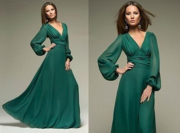 Изумрудное платье какой подобрмть лак