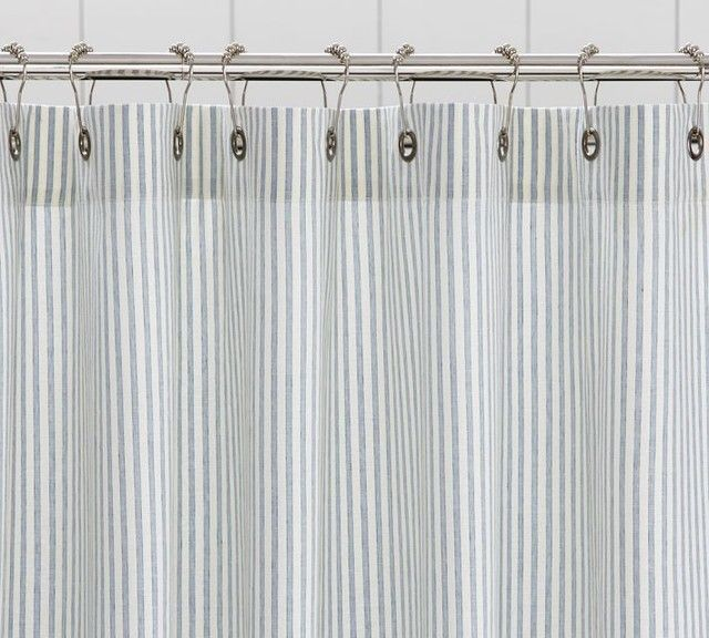Gray Striped Shower Curtain Rickevans Homes