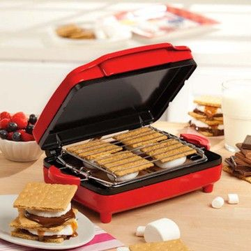 Mini S'Mores Maker Red: Smore Maker, Kitchens, S More Maker, Appliances, Sensio Bella, 13578 Smore, Bella Smore, Bella 13578, Products