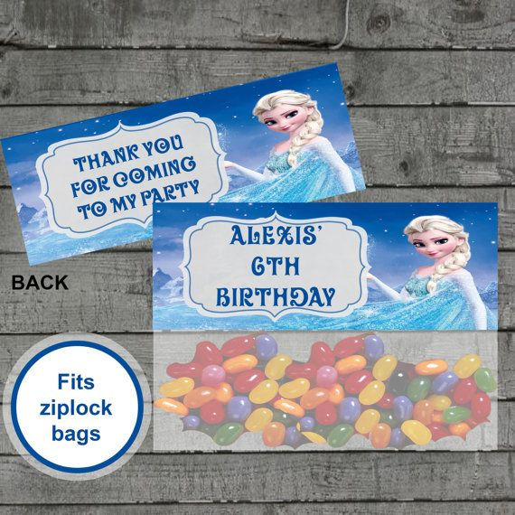Frozen Candy Bag Toppers Elsa Treat Bag by PartyPrintableInvite