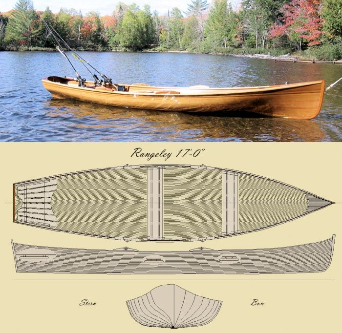 'The Rangeley 17' Row Boat Kit | Boat building, Boat ...