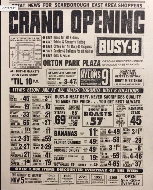Grand opening of the Busy-B 1967