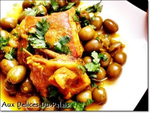 Plat algerien d 'agneau aux olives vertes tajine zitoune aux delices du palais blog de saleha gateaux algeriens cuisine facile gateaux orientaux et