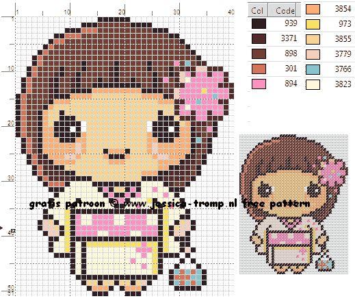 borduurpatroon meisje (48).png (519×439)