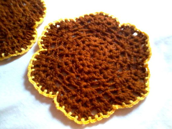 Winter  crochet coasters / doilies  set of by KaterinakiJewelry