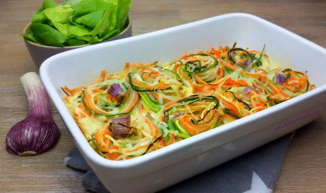 low carb Gemüsenudel-Auflauf | schlank mit verstand