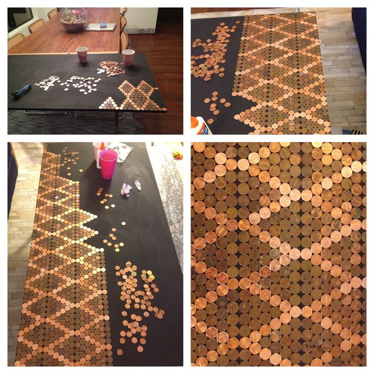74 best pennies images on pinterest coins penny for How to do a penny backsplash