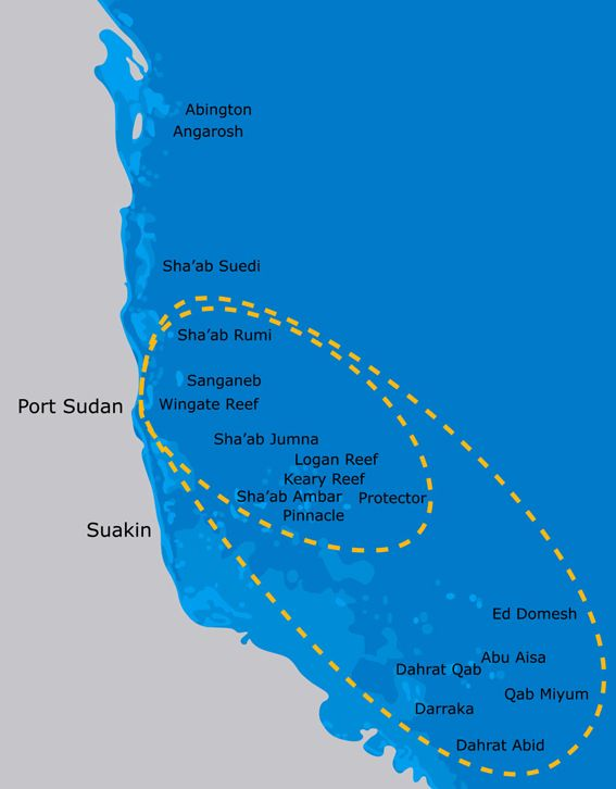 MY Atlantis Sudan itinerary - Diving Attitude http://divingattitude.com/it/itineraires-2/sudan/