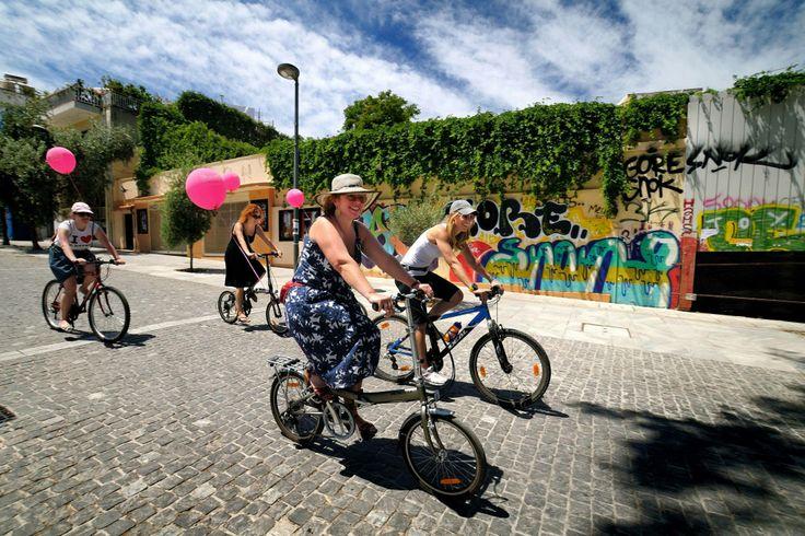Bike, girls, fashion