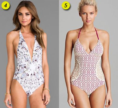 Sasha Finds: Full piece swimsuits - love the one on the right.