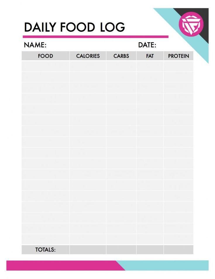 free printable food log track your macros track your food intake