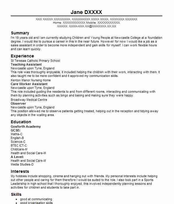 Cv Childcare Zohrehorizonconsultingco Template Design Sale Resume Examples Film And Television Studie Personal Statement