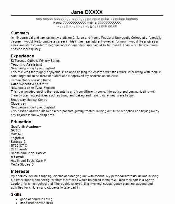 Cv Childcare Zohrehorizonconsultingco Cv Template Cv Design Template Sales Resume Examples
