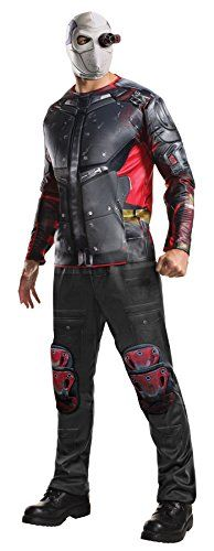 UHC Mens Suicide Squad Deluxe Deadshot Outfit Adult Halloween Costume XL 4652 ** To view further for this item, visit the image link.